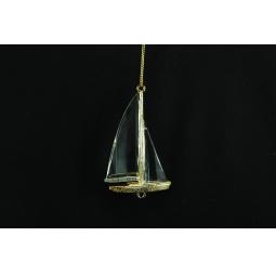 Купить Елочное украшение Crystal Deco «Парусная Лодка»