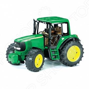 Трактор игрушечный Bruder John Deere 6920 машинки tomy трактор john deere 6830 с двойными колесами и фронтальным погрузчиком