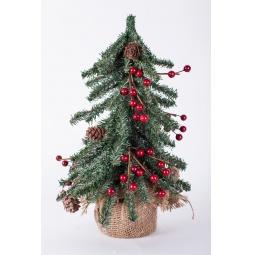 Купить Ель декоративная Crystal Trees с ягодами и шишками «Венская»
