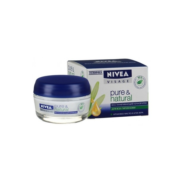 фото Крем для лица ночной Nivea Pure & Natural
