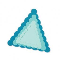 фото Набор форм-трафаретов для вырубки Sizzix Framelits Die Резные треугольники