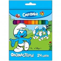 фото Набор фломастеров Росмэн «Смурфики»: 24 цвета