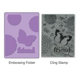 фото Форма для эмбоссирования и штамп Sizzix Textured Impressions Коллаж и Stamp