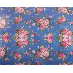 фото Ткань декоративная ScrapBerry's Сатин клеевой синий