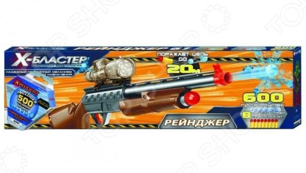 Бластер Х-Бластер «Рейнджер 61»Бластеры<br>Бластер Х-Бластер Рейнджер 61 игрушечное ружье, которое выглядит как настоящее оружие. Модель подходит для мальчиков от 6 лет. Бластер оснащен действующим прицелом и перезарядным механизмом. Расстояние выстрела: 15 25 метров. Магазин вмещает в себя 50 гидропулек. Играть с этим ружьем в разы увлекательней, чем сидеть за экраном компьютера.<br>