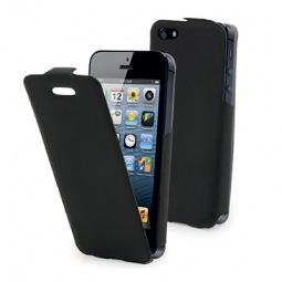 фото Чехол и пленка на экран Muvit iFlip для iPhone 5. Цвет: черный