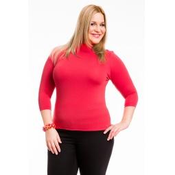 фото Водолазка Mondigo XL 7010. Цвет: ярко-розовый. Размер одежды: 48