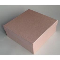 фото Коробка подарочная Феникс-Презент «Персиковый». Размер: L (16х16 см). Высота: 6,3 см