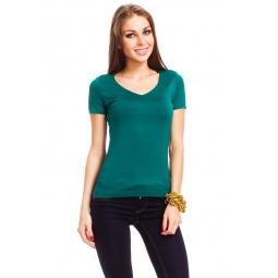 фото Футболка Mondigo 056. Цвет: темно-зеленый. Размер одежды: 42