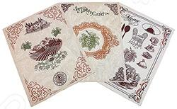 Комплект из 3-х вафельных полотенец BONITA «Бордо»