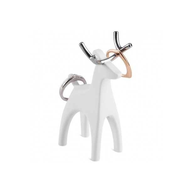 фото Подставка для колец Umbra Anigram «Олень». Цвет: белый