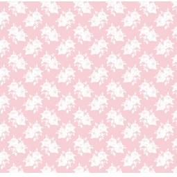 фото Отрез ткани Tilda Белые розы. Цвет: розовый