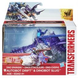 Купить Робот-трансформер Hasbro A7681 «Дино Спарклс Дрифт и Слаг»