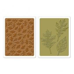 фото Форма для эмбоссирования Sizzix Texture Fades Текстурированные листья