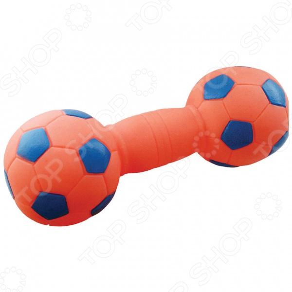 Игрушка для собак ЗООНИК «Гантель-футбольная»