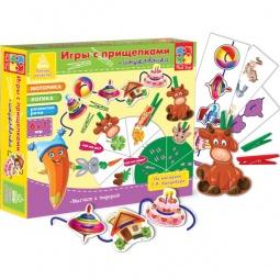 Купить Игра развивающая для малыша Vladi Toys «Прищепочки. Животные»