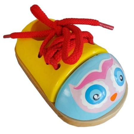 Купить Игра развивающая для малыша Mapacha «Шнуровка-ботиночек. Совенок»
