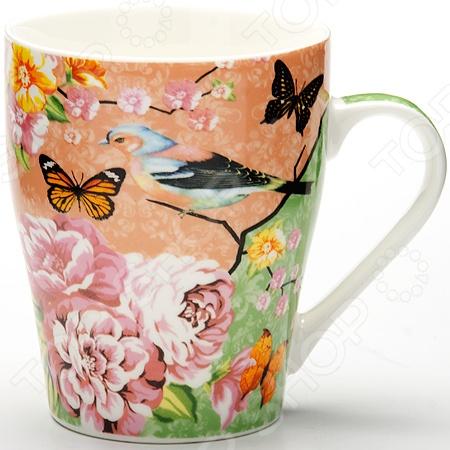 Кружка Loraine LR-24467 «Птичка»Кружки. Чашки<br>Кружка Loraine LR-24467 Птичка - модель выполненная из керамики в оригинальном дизайне, станет красивым и полезным подарком для ваших родных и близких. Керамика - один из самых древних материалов, который использовали наши предки для изготовления посуды. С древних времен и до наших дней, керамическая посуда занимала важное место на кухне многих хозяек. Сегодня керамическая посуда по-прежнему пользуется большой популярностью и это не удивительно, ведь керамика - экологически чистый материал, который не наносит вреда здоровью, а кроме того керамическая посуда отличается большим разнообразие, поэтому каждый может выбрать изделие по своему вкусу.<br>