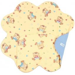 фото Конверт детский с прорезями для ремней безопасности Ramili Baby Light Denim Style. Цвет: бежевый