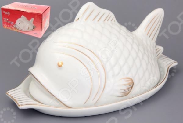 Блюдо с крышкой Elan Gallery Рыба красочная тарелка для рыбы, которая внесет разнообразие в сервировку кухонных принадлежностей. Тарелка имеет форму предотвращающая вытекание за границы, при этом, предоставляя возможность с легкостью извлечь продукт. Материал абсолютно безопасен и не вступает в реакцию с продуктами, а так же не влияет на запах и вкус готового изделия. В комплект входит крышка. Размер 22 см.