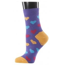 фото Носки женские Teller Hearts. Цвет: фиолетовый. Размер: 39-41