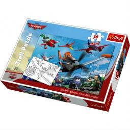 Купить Пазл 30 элементов Trefl «Приключения Самолетов»