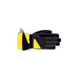 Купить Перчатки детские горнолыжные GLANCE Fighter Junior (2011-12). Цвет: черный, желтый