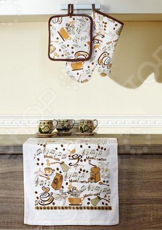 Набор кухонный: прихватка, варежка-прихватка и полотенце Primavelle «Дизайн» фартуки кухонные римейн набор кухонный фартук варежка прихватка