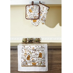Купить Набор кухонный: прихватка, варежка-прихватка и полотенце Primavelle «Дизайн»