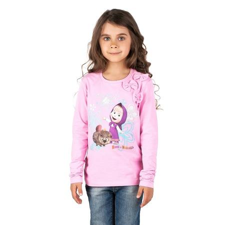 Купить Лонгслив для девочки «Маша и Медведь». Отделка: 3 бантика