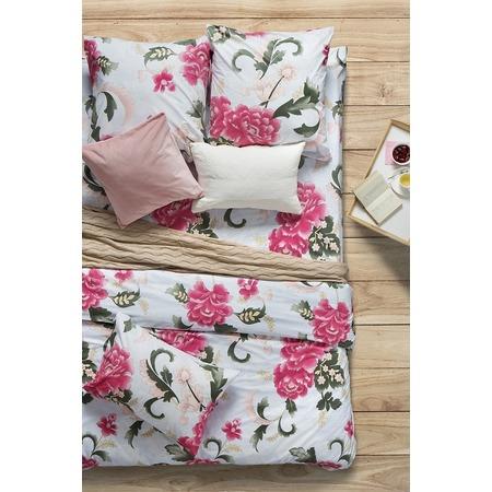 Купить Комплект постельного белья Сова и Жаворонок Premium «Пион Скарлет». Семейный