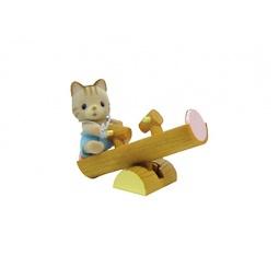 фото Игровой набор Sylvanian Families «Кот на качелях»