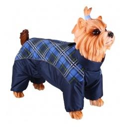 Купить Комбинезон-дождевик для собак DEZZIE «Йоркширский терьер» №3. Цвет: синий