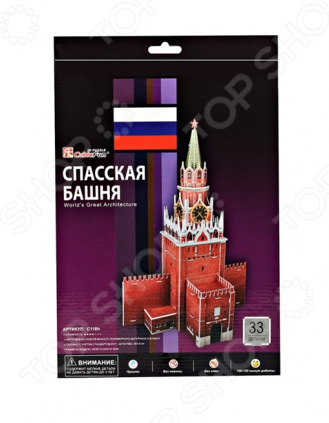 Пазл 3D мини CubicFun «Спасская башня» Пазл 3D мини CubicFun «Спасская башня» /