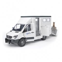 фото Машинка игрушечная Bruder Mercedes-Benz Sprinter «Фургон с лошадью»