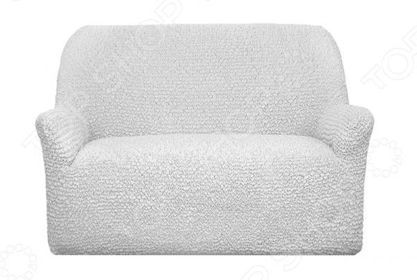 Натяжной чехол на двухместный диван «Микрофибра. Белый Жемчуг»Чехлы на диваны<br>Ваша старая мебель перестала радовать глаз Не торопитесь её выкидывать, лучше задумайтесь о покупке съемного, натяжного чехла! Он позволит подарить старой мебели вторую жизнь и вернуть былую привлекательность. К тому же, такие практичные чехлы не только позволят менять интерьер в зависимости от вашего настроения, времени года и торжества, но и надежно защитят поверхность мягкой мебели от бытового протирания, случайных пятен и шерсти домашних животных. Привнесите в интерьер что-то новое! Натяжной чехол на двухместный диван Микрофибра. Белый Жемчуг стильная современная модель, которая прекрасно впишется в интерьер любой комнаты. Она станет идеальным выбором для тех, кто ценит строгие формы, простоту и минимализм в деталях. Главное преимущество данного чехла заключается в выбранной дизайнерами цветовой гамме, именно она делает эту модель очень популярной и актуальной. Нейтральный светлый тон универсален, поэтому гармонично считается с интерьерными элементами различных цветов и оттенков, а приятный перламутровый блеск придает изделию особый шарм и красоту. Комбинировать такой чехол с другим домашним текстилем будет очень легко!  Натяжной чехол из серии Микрофибра приятного белого оттенка идеальная находка для тех, кто ещё в поиске любимого интерьерного стиля или предпочитает комбинировать различные направления и веяния. Благодаря своему простому однотонному дизайну чехол прекрасно впишется в интерьеры, выполненные в любом стиле, например, в стиле конструктивизм, постмодерн, контемпорари или минимализм. Комбинируйте, экспериментируйте, этот натяжной чехол для вашего дивана будет смотреться всегда роскошно и уютно! Сядет точно по фигуре ! Уникальность данного чехла заключается в том, что его можно использовать с любыми двухместными диванами. Он отлично сядет даже на диваны нестандартных форм и габаритов, например, с объемными и необычными подлокотниками, высокой, объемной спинкой. Прочный и к