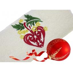 фото Полотенце подарочное с вышивкой TAC Christmas toy. Цвет: бежевый