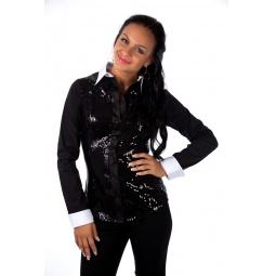 фото Блузка Mondigo 9614. Цвет: черный. Размер одежды: 46