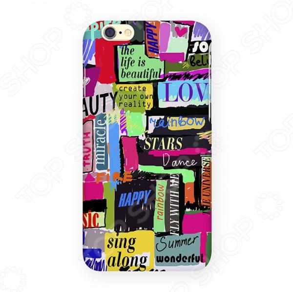 Чехол для iPhone 6 Mitya Veselkov «Жизнь прекрасна» чехол для iphone 5 mitya veselkov жизнь прекрасна