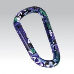 Купить Брелок-карабин Munkees «Лиловый цветок»