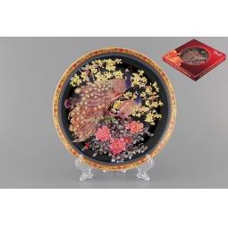 Купить Тарелка декоративная Elan Gallery «Павлин на черном»