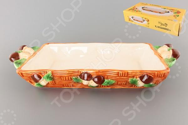 фото Блюдо для хлеба Elan Gallery «Грибы» 110776, Сервировочные блюда