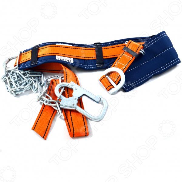 Пояс страховочный РОС ПП-1Г (цепь)Безопасность работ<br>Пояс страховочный РОС ПП-1Г - это обязательная предохранительная вещь для строителей и высотников, выдерживает большой вес. Применяется для защиты человека от падения при выполнении работ на высотных сооружениях.<br>