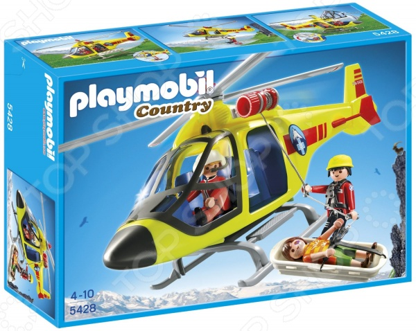 Набор игровой Playmobil «В горах: Спасательный вертолет»
