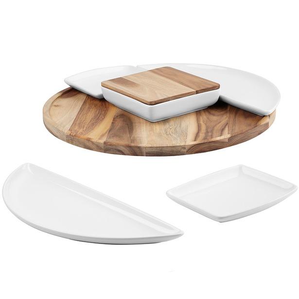 фото Набор: 5 блюд и поднос для сервировки Umbra Spun