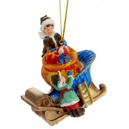 фото Игрушка елочная Феникс-Презент 38324 «Дети и подарки»