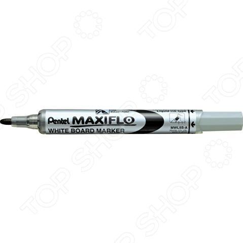 Маркер для досок Pentel Maxiflo канцелярский предмет, необходимый для разметки, маркировки и редактирования. Пригодится школьникам, студентам и офисным работникам. Маркер подходит для досок MAXIFLO.