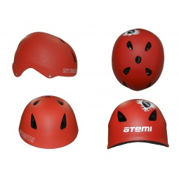 фото Шлем защитный ATEMI Rider AAHR-02. Цвет: красный. Размер: L (58-60)
