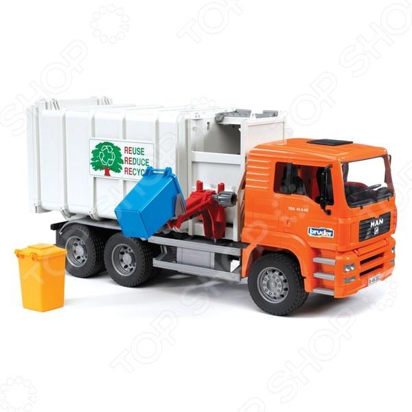 Машинка игрушечная Bruder «Мусоровоз» MAN машинка игрушечная bruder мусоровоз roadmax