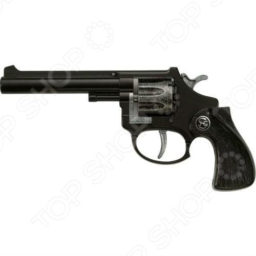 Пистолет игрушечный Schrodel R 88Пистолеты<br>Пистолет игрушечный Schrodel R 88 - игрушечное воспроизведение револьвера от немецкой компании Schrodel. Данная модель пистолета поможет вашему ребенку перенестись в мир приключений и провести немало приятных моментов, защищая слабых и творя добро. Изготовлен пистолет из высококачественного материала. Стреляет пистонами, которые безопасны для вашего ребенка.<br>